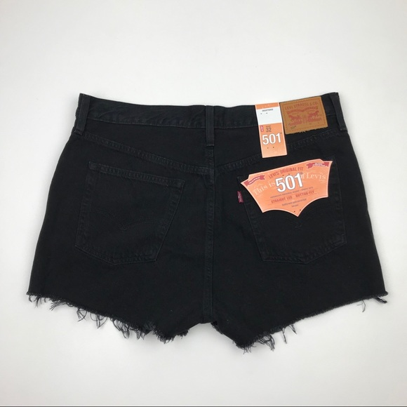 Levi's Pants - NWT Levi's 501 Wedgie Black Re/Done Shorts Sz 32